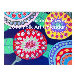 Mexican Folk Art 2016 Calendar Flowers Ambrosino