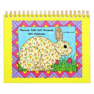 Mexican Folk Art Animals Calendar