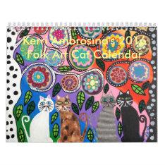 Mexican Folk Art Cat Calendar 2016 Ambrosino at Zazzle