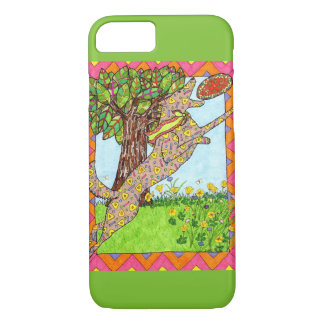 Mexican Folk Art Dog Playing Frisbee iPhone 8/7 Case