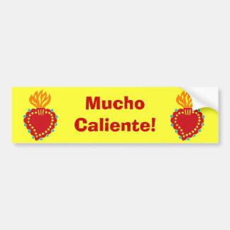Mexican Folk Art Sacred Heart Bumper Sticker