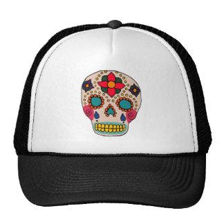 Mexican Folk Art Sugar Skull Mesh Hat