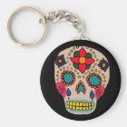 Mexican Folk Art Sugar Skull Keychain