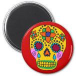 Mexican Folk Art Sugar Skull Magnets