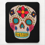 Mexican Folk Art Sugar Skull Mouse Pad
