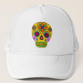 Mexican Folk Art Sugar Skull Trucker Hat