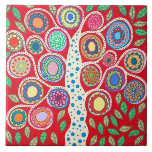Kitchen Folk Art: Mexican Folk Art Tree Of Life Tiles Kitchen