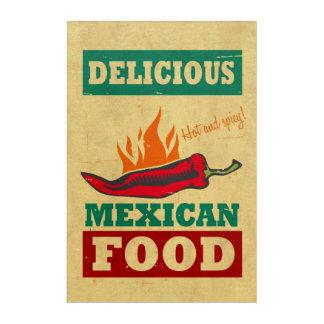 Mexican Food Acrylic Wall Art
