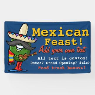 Mexican Food.Avocado.Guacamole.Promotional banner