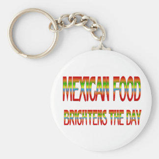 Mexican Food Brightens the Day Key Chains