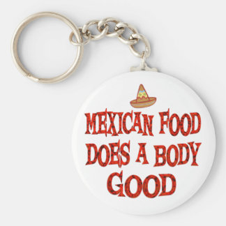 Mexican Food Does Good Key Chain