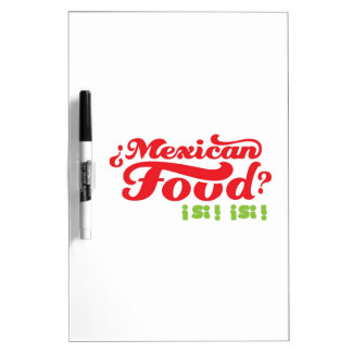 MEXICAN FOOD Dry-Erase WHITEBOARD