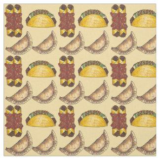 Mexican Food Empanada Taco Enchilada Foodie Fabric
