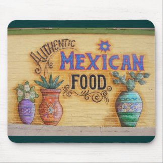 Mexican Food Mural Mouse Pad
