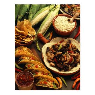 Mexican Food Postcard