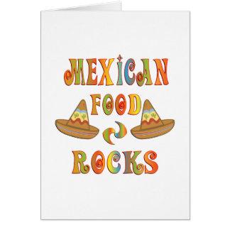 Mexican Food Rocks Card