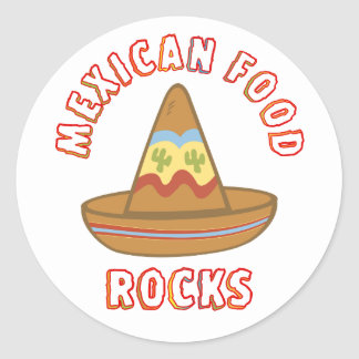 Mexican Food Rocks Classic Round Sticker