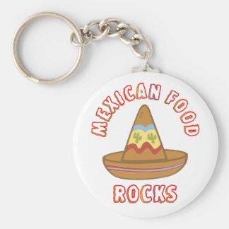 Mexican Food Rocks Keychain