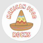 Mexican Food Rocks Stickers
