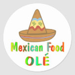 Mexican Food Round Stickers