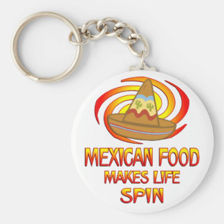 Mexican Food Spins Key Chains