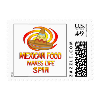 Mexican Food Spins Stamp