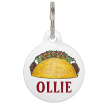 Mexican Food Taco Tacos Foodie Pet Dog Tag