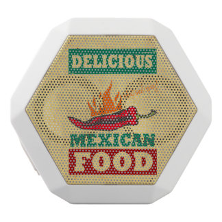 Mexican Food White Bluetooth Speaker