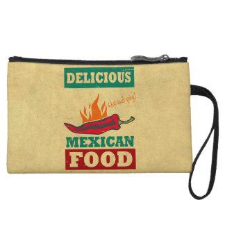 Mexican Food Wristlet Wallet