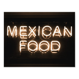 MEXICAN FOOD -Yellow Neon Sign Personalized Invite