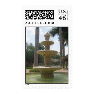 Mexican Fountain Postage Stamp