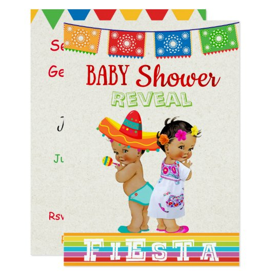 Mexican Gender Reveal Baby Shower Invitation