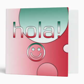 Mexican Gifts : Hello / Hola + Smiley Face 3 Ring Binder