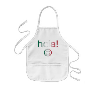 Mexican Gifts : Hello / Hola + Smiley Face Kids' Apron