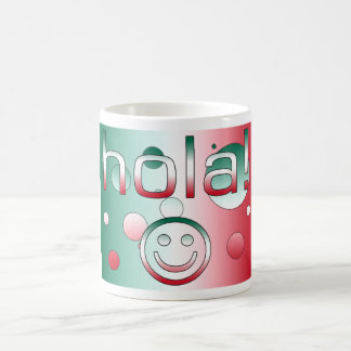 Mexican Gifts : Hello / Hola + Smiley Face Classic White Coffee Mug