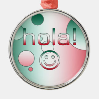 Mexican Gifts : Hello / Hola + Smiley Face Christmas Ornaments