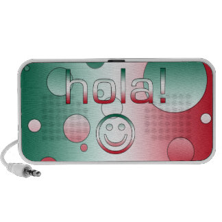 Mexican Gifts : Hello / Hola + Smiley Face Speakers