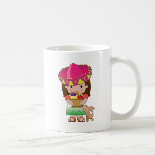 Mexican Girl and Dog Mug