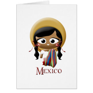 Mexican Girl Card