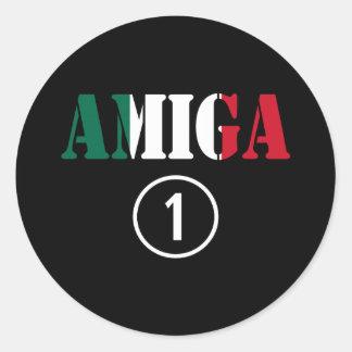 Mexican Girl Friends : Amiga Numero Uno Classic Round Sticker