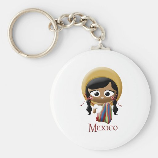 Mexican Girl Keychain
