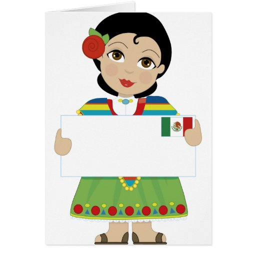 Mexican Girl Sign Cards
