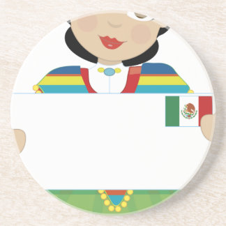 Mexican Girl Sign Drink Coaster
