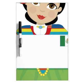 Mexican Girl Sign Dry-Erase Whiteboards