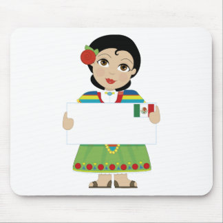 Mexican Girl Sign Mouse Pad
