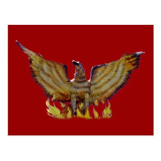 Mexican golden eagle postcard
