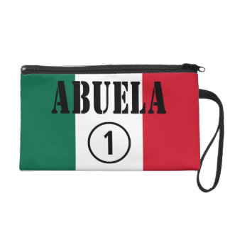 Mexican Grandmothers : Abuela Numero Uno Wristlet Clutches