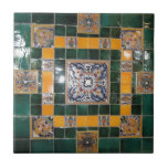Mexican Green Talavera Style Tile work