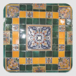 Mexican Green Talavera Style Tile work Sticker