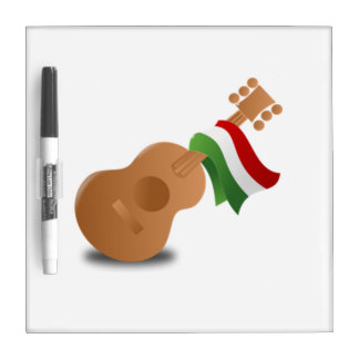 Mexican Guitar Dry-Erase Whiteboard
